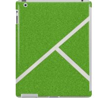 Top view of soccer field iPad Case/Skin