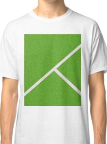 Top view of soccer field Classic T-Shirt