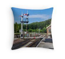 Levisham Station Throw Pillow