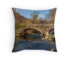 Packhorse Bridge River Duddon Throw Pillow