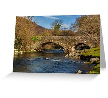 Packhorse Bridge River Duddon Greeting Card