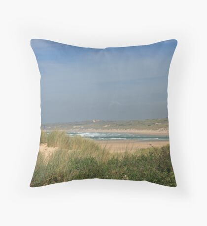 Porth Kidney Sands VII Throw Pillow