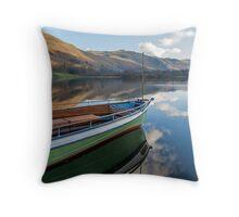 Sailing on Ullswater Throw Pillow