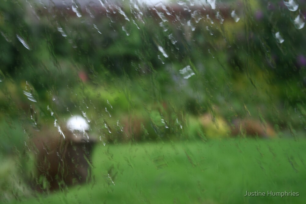 It's raining again II by Justine Humphries