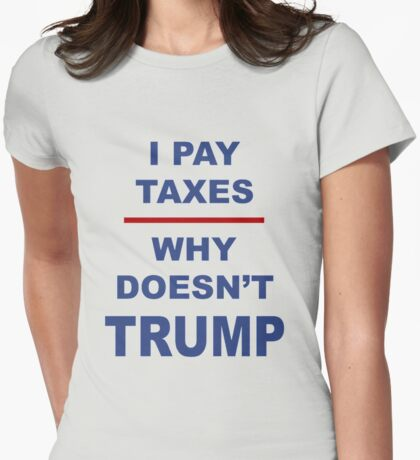Tax march Womens Fitted T-Shirt