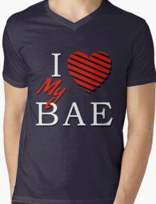 I Love (Heart) My Bae Mens V-Neck T-Shirt