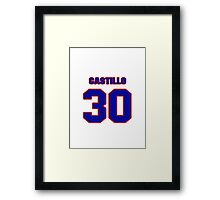 National baseball player Alberto Castillo jersey 30 Framed Print