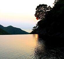 Falling Sun on Natural Pool - Hong Kong. by Tiffany Lenoir