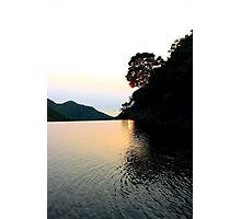 Falling Sun on Natural Pool - Hong Kong. Photographic Print