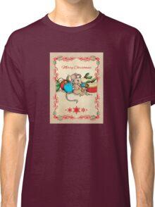 Love, Joy, PIE! Merry Christmas! Cute mouse illustration Classic T-Shirt
