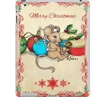 Love, Joy, PIE! Merry Christmas! Cute mouse illustration iPad Case/Skin