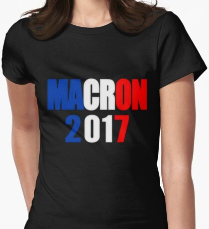 Macron For President Of France Womens Fitted T-Shirt