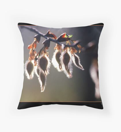 Fuzzy Buds Throw Pillow