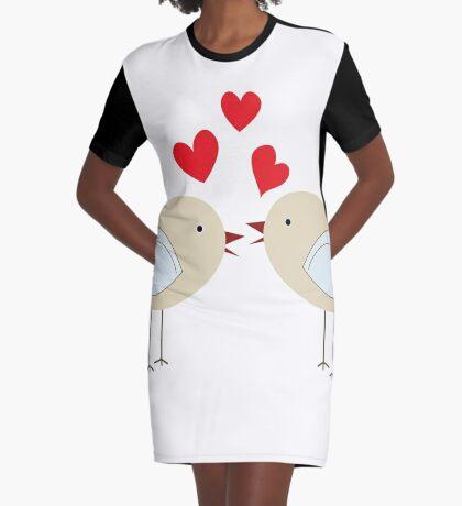 Love birds Graphic T-Shirt Dress
