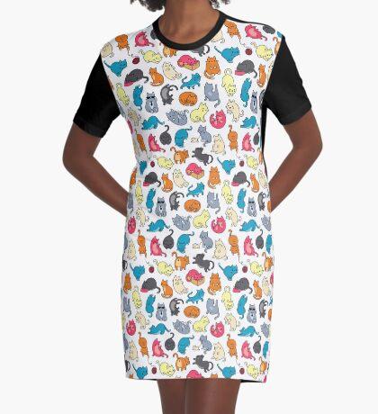 Cats cats cats Graphic T-Shirt Dress