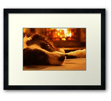 Warm & Cosy By the Fire Framed Print