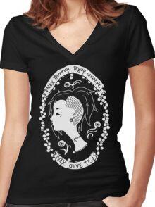 Maskmaker Women's Fitted V-Neck T-Shirt