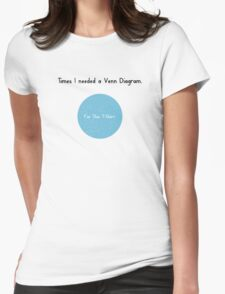 Times I Needed a Venn Diagram Womens Fitted T-Shirt