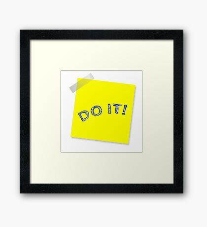 Do It Framed Print