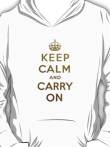 Keep Calm and Carry One Grunge Green Background T-Shirt
