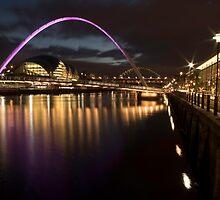 The Millenium Bridge Panoramic by Dave Hudspeth