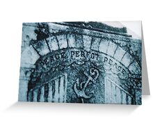 Imperfct Peace Greeting Card