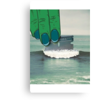 waves of cocaine Canvas Print