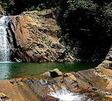 The Hidden Waterfall VI - Hong Kong. by Tiffany Lenoir