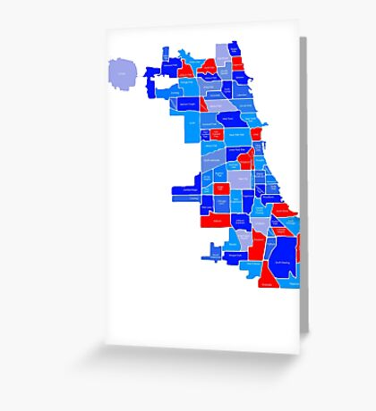 Red & Blue Chi-Town Greeting Card