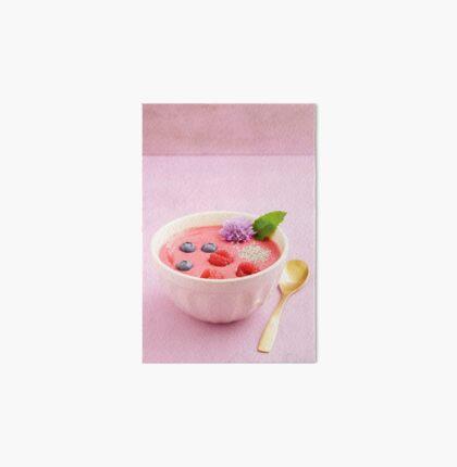 Raspberry smoothie bowl Art Board