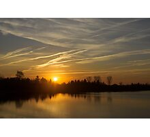 Cool Contrails and Sunshine Photographic Print