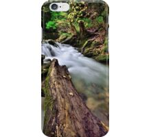 Flowing water at Janet's Foss iPhone Case/Skin