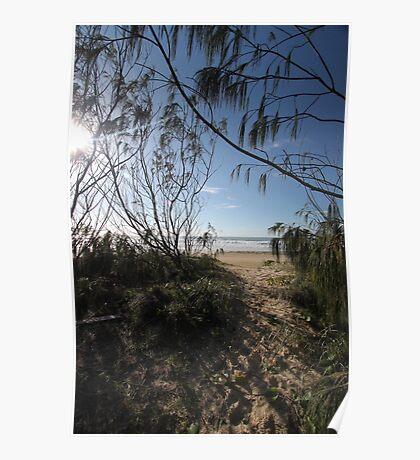 beach camp Fraser Poster