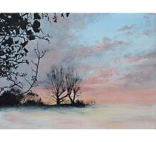 Wintery Sunrise Photographic Print