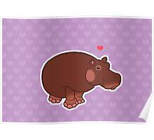 Hippo Love Poster