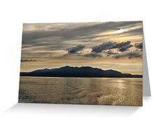Isle of Arran at Sunset Greeting Card