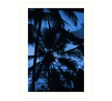 Blue Sky Palm Art Print