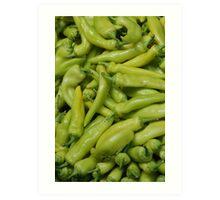 Green Chilies Art Print