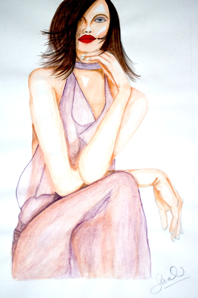 Woman in Watercolour by Sarah Moore