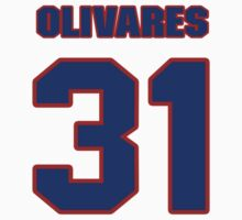 National baseball player Omar Olivares jersey 31 by imsport