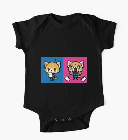 Aggretsuko: Before & After One Piece - Short Sleeve
