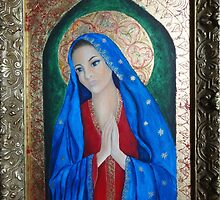 Icon of Mother Mary by Ria  Rademeyer