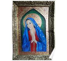 Icon of Mother Mary Poster