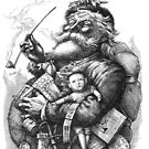Vintage Illustration Of Santa Claus by taiche