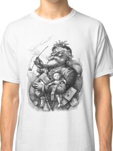Vintage Illustration Of Santa Claus Classic T-Shirt