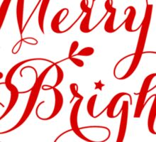 Merry and Bright, Merry Christmas Sticker