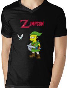 Bart the legend of Zelda Mens V-Neck T-Shirt