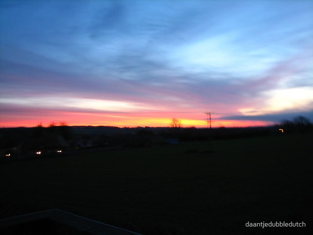 a blue sunset by daantjedubbledutch