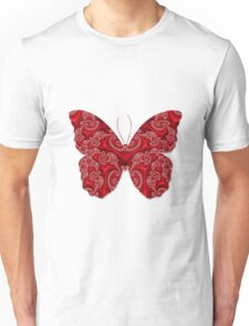Ornate red butterfly Unisex T-Shirt