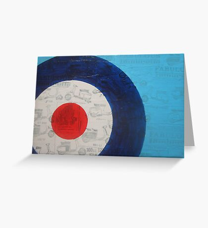 mod scooter target Greeting Card